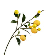 Simulation Green Plant Artificial Fruit Flower Yellow Simulation Lemon Fruit Tree Branch