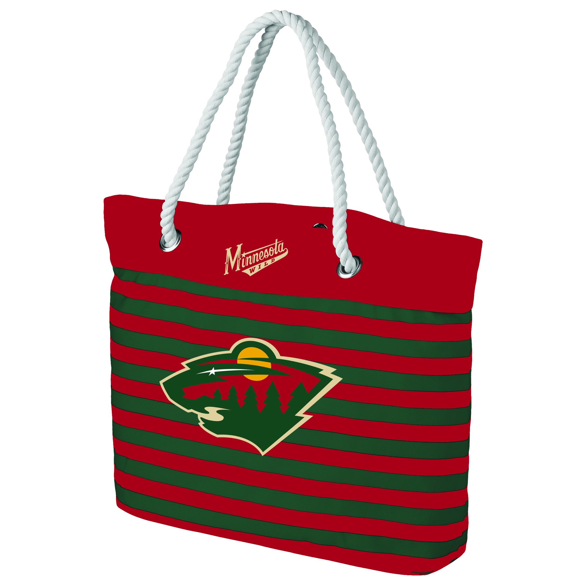 Minnesota Wild Women's Nautical Stripe Tote Bag - No Size