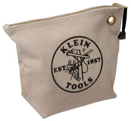 "KLEIN TOOLS Tool Bag,1 Pocket,10""x3-1/2""x8"",Tan 5539NAT"