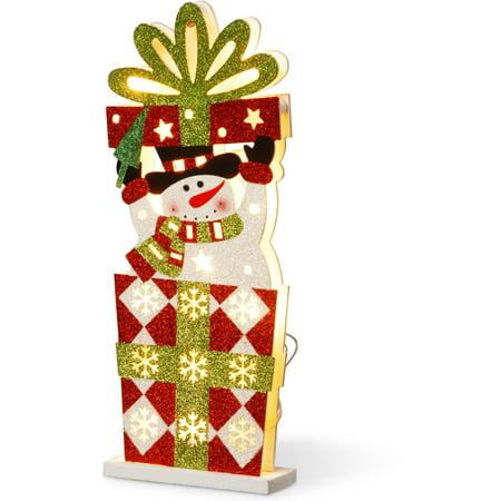 Snowman Treasure Box (Pre-Lit 17