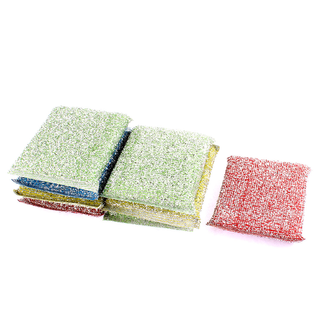 Home Kitchen Dish Sponge Padded Cleaning Scrubbing Pads 8 Pcs