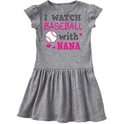 I Watch Baseball with My Nana Infant Dress