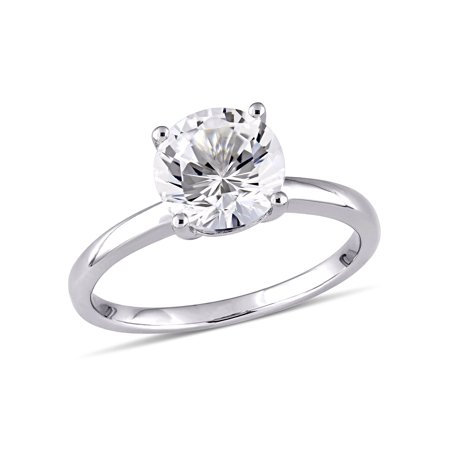 2-3/8 Carat T.W. Created White Sapphire 10kt White Gold Solitaire Engagement - I1 White Gold Solitaire