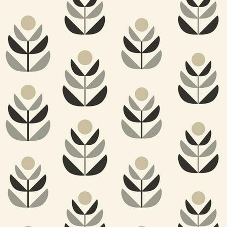 Beacon House Oslo Black Geometric Tulip (Orange Geometric Wallpaper)
