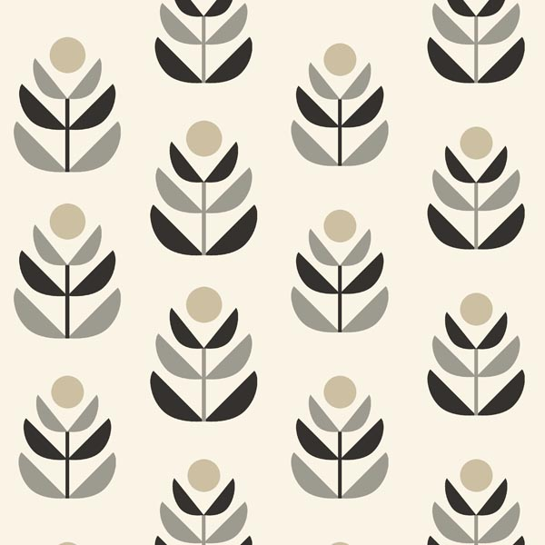Oslo Black Geometric Tulip Wallpaper