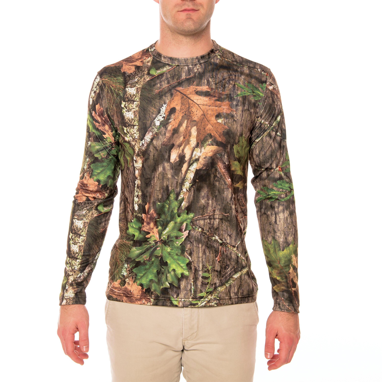 Sun Protection Clothing Men Mossy Oak Long Sleeve Fishing T-Shirts for Men