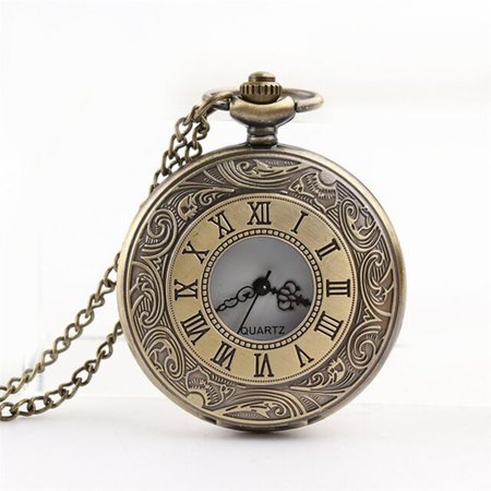 Personalized Pattern Steampunk Vintage Quartz Roman Numerals Pocket Watch Personalized Roman Numeral Cross