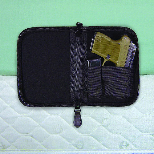 PS Products, Holster Mate Pistol Case, Fits Medium to Large Handguns, Black