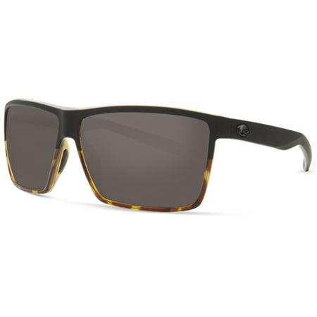 a3643ad81f47 Costa Del Mar - Costa Del Mar Rincon Polarized Plastic (580) Grey X-Large  Fit Sunglasses - Walmart.com