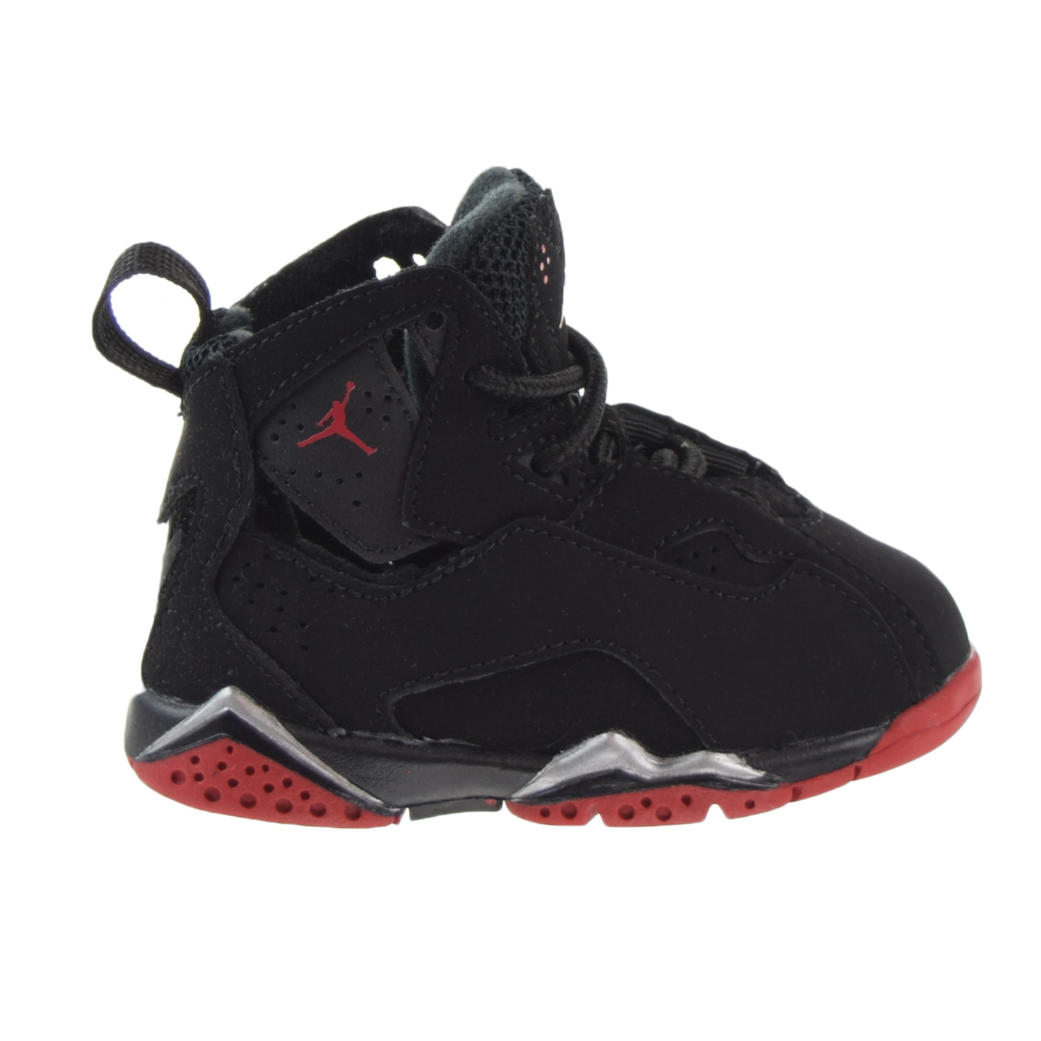 save off fcc35 75403 ... cheap jordan true flight bt toddlers shoes black gym red metallic silver  343797 003 6de47 97626