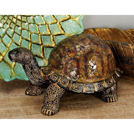 Decmode Polystone Mosaic Turtle, Multi Color for $<!---->