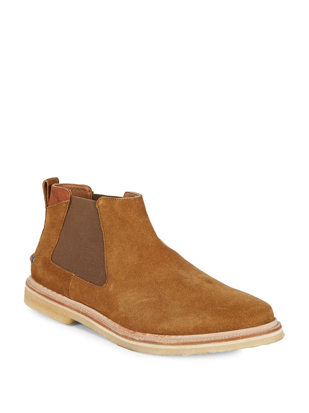 Lace Back Suede Chelsea Boots