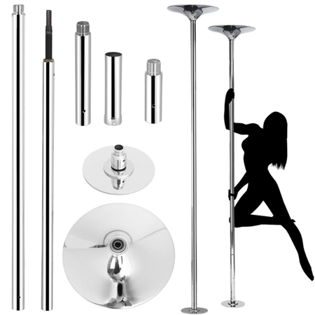 Professional 45mm Portable Dancing Pole For Sport Fitness Club Party Spinning Exercise