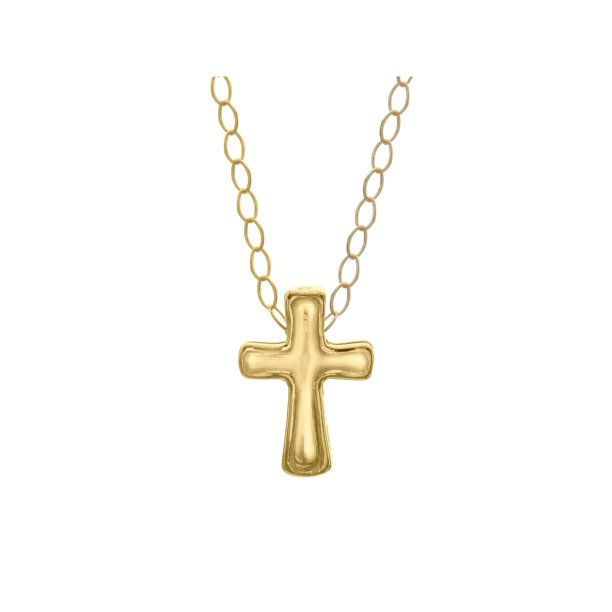 Just Gold Cross Pendant Necklace in 10kt Gold