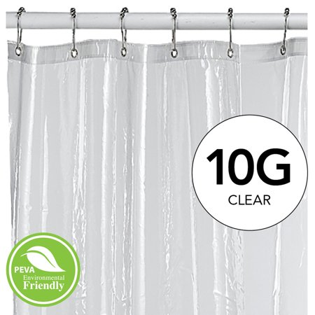 Bath Bliss Splash Guard Hotel Weight PEVA Shower Curtain Liner Clear 70x72 Inches