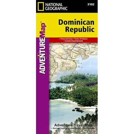 Adventure map: dominican republic - folded map: