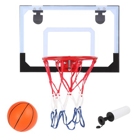 Zimtown Clear Miniature Basketball Backboard Wall-Mount Hoops and Goals with Ball and Pump (Needle is contained into the air pump) ()
