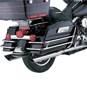 "Python 3.5"" Slip-On Mufflers Scalloped Fits 95-14 Harley-Davidson Touring Models"