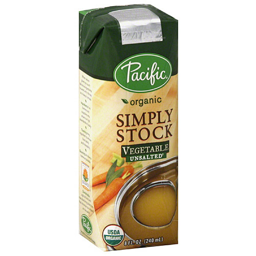 Pacific Organic Simply Stock Unsalted Vegetable Stock, 8 fl oz, (Pack of 12)