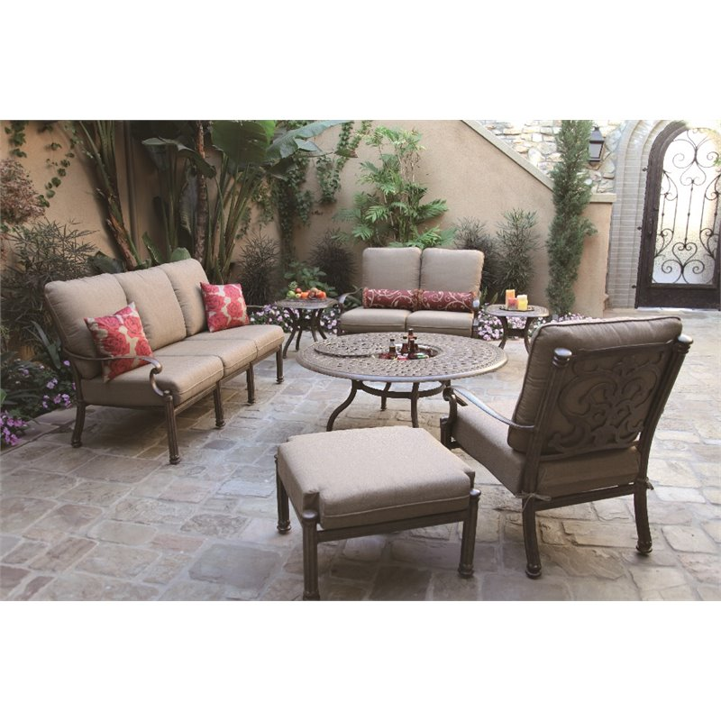 Darlee Santa Barbara 7 Piece Patio Sofa Set with Cushion