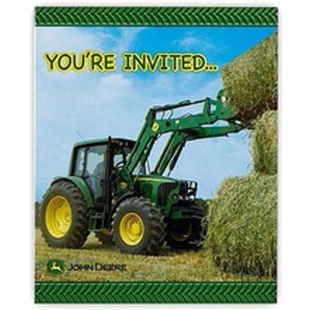 John Deere Birthday Party Invitations 8pk