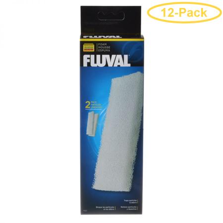 Fluval Filter Foam Block For Fluval Canister Filters 205 & 305 (2 Pack) - Pack of 12