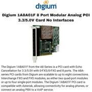 Digium 1A8A01F 8 Port Modular Analog PCI 3.3/5.0V Card No Interfaces