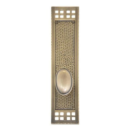 Brass Entrance Single - BRASS Accents Art and Crafts Single Cylinder Entrance Knobset