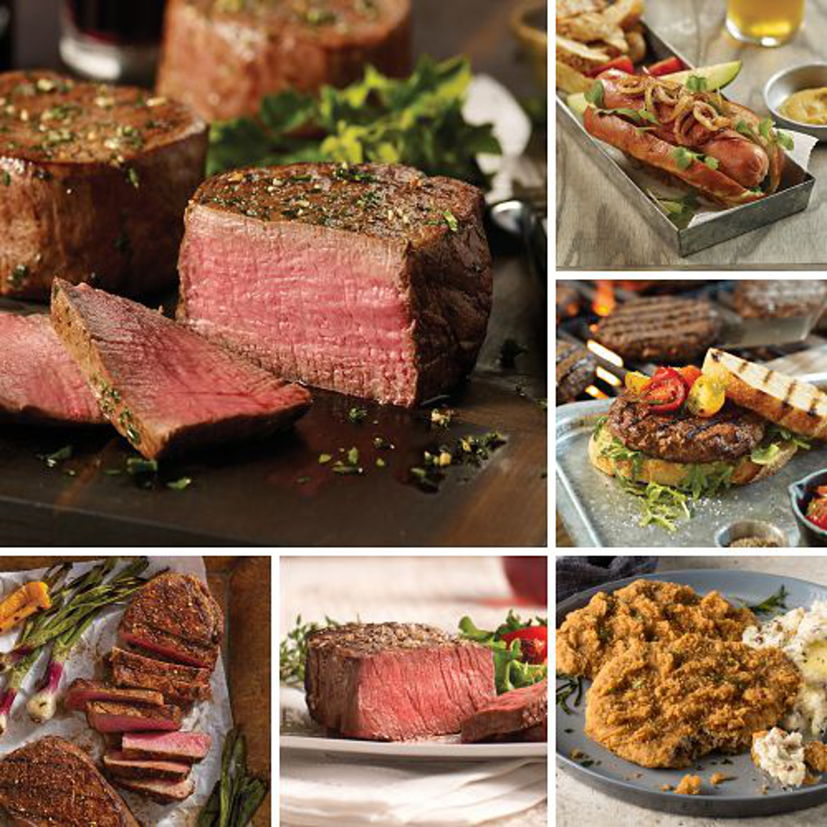 Omaha Steaks Holiday Gift Sampler Father's Day Food Christmas Gift Package Gourmet Deluxe Steak Gift