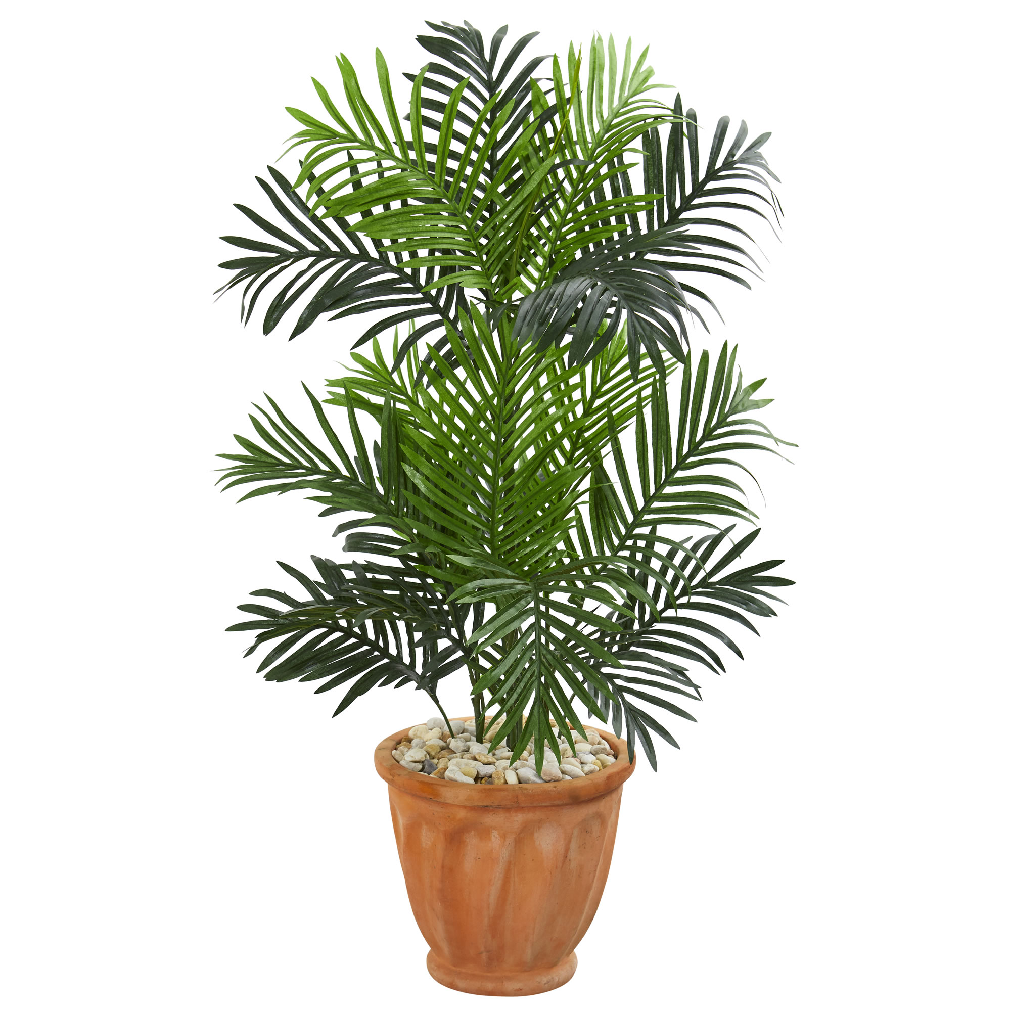 Nearly Natural 3.5' Paradise Palm Artificial Tree in Terra Cotta Planter