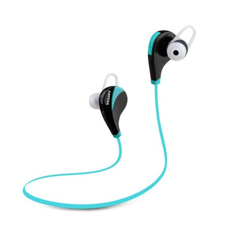 Arteck Wireless Bluetooth Sport Headphones Portable Headset Mini Light Earbuds Sports Earphones with Rechargeable 5 Hours Playing for iPhone 7, 7Plus, 6, 5, iPod, Android Smart Phones and Others Blue (Blue Iphone 5 Earphones)