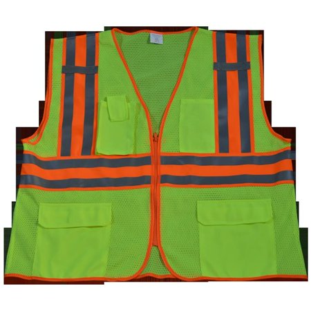petra roc lvm2-cb2-s/m ansi class 2 safety vest with orange contrast binding, small/medium, lime mesh petra roc lvm2-cb2-s-m safety vest ansi class ii lime mesh contrast binding, small & medium
