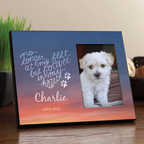 "Personalized Forever"" My Heart Dog Frame"