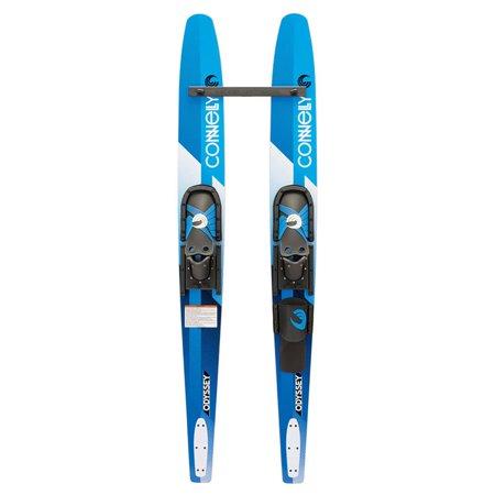 CWB Odyssey Combo Water Skis With Slide Adjustable Bindings (Mountain Ski Bindings)