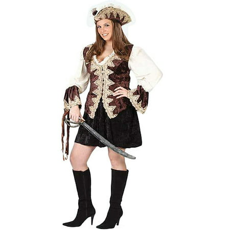 Royal Lady Pirate Adult Plus Halloween Costume, Size: Women's 16-20 - One Size (Pirate Costume Plus Size)