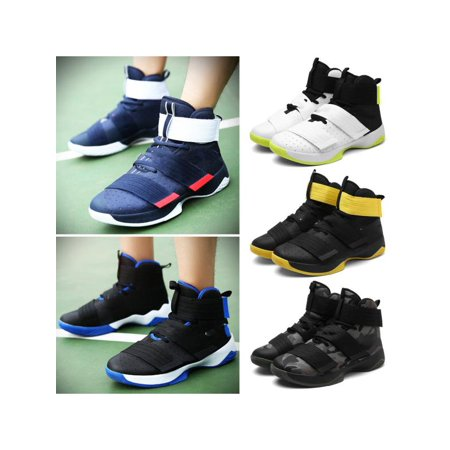 Meigar Men Athlelic Sport Shoes High Top Breathable Running Basketball Sneakers Outdoor