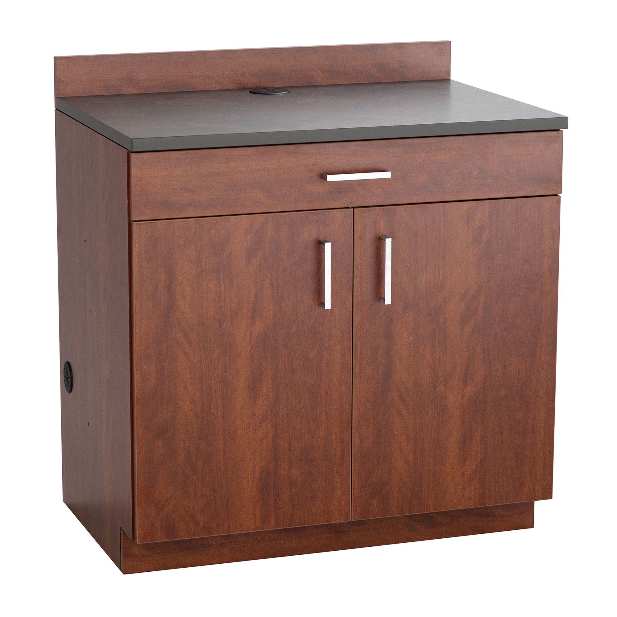 2 Door/1 Drawer Base Cabinet-Finish:Mahogany