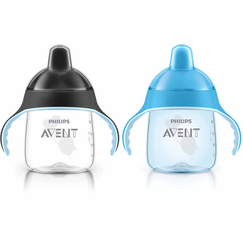 Philips Avent My Penguin Sippy Cup, 9 Ounces, 2-Pack, 6 Months +, Stage 2, BPA-Free
