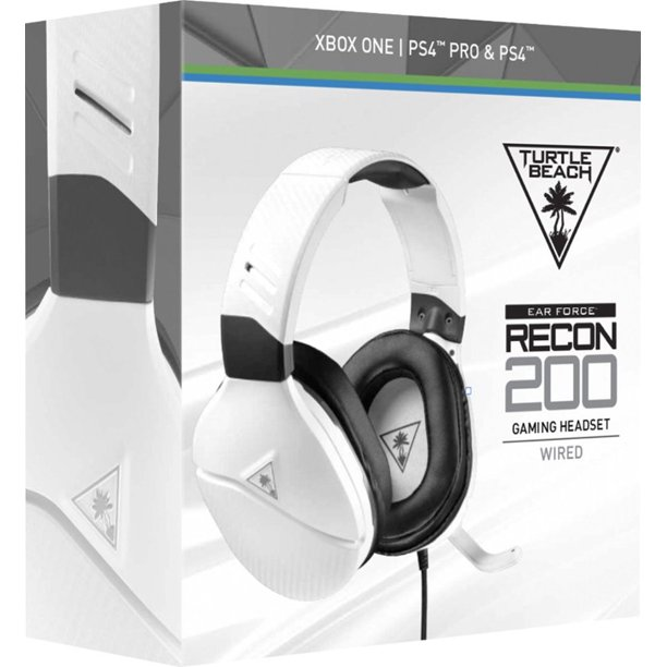 Recon 200 Wired Stereo Gaming Headset White Turtle Beach Xbox One And Playstation 4 731855032204 Walmart Com Walmart Com