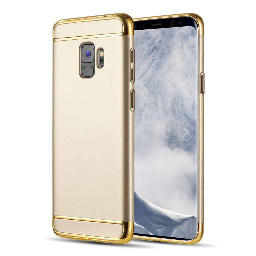MUNDAZE Gold Luxury Sleek Ultra Thin Case For Samsung Galaxy S9 Phone