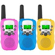 Juslike Walkie Talkies for Kids Walkie Talkies 3 Miles Long Range 22 Channels 2 Way Radio Gifts for Kids Boys Girls (3 Pack)
