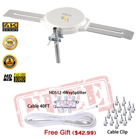 Lava Top Rated 4K Lava 360 Degree Omni Directional Tv Antenna Omnipro Hd 8008  Free Installation Kit  42 Value