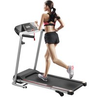 Merax JK08 Folding Treadmill Electric Motorized Power Running Machine with LCD Display for Home Fitness