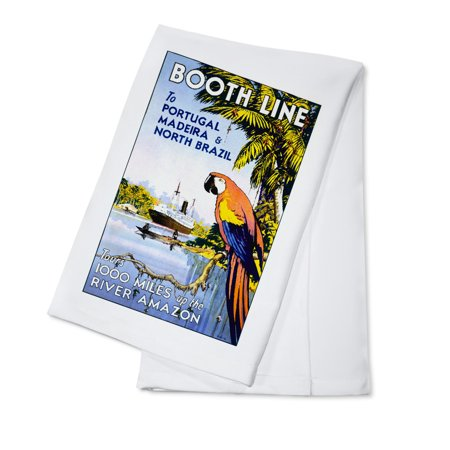 - Booth Line Vintage Poster (artist: McDonald) England (100% Cotton Kitchen Towel)