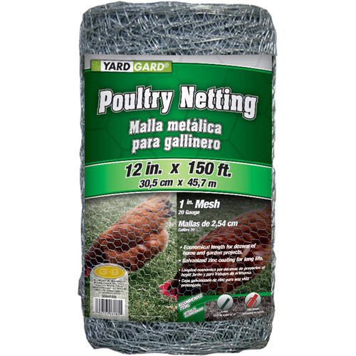 G&B Mat 308418A 12 in X 150' 1 in Mesh Poultry Netting
