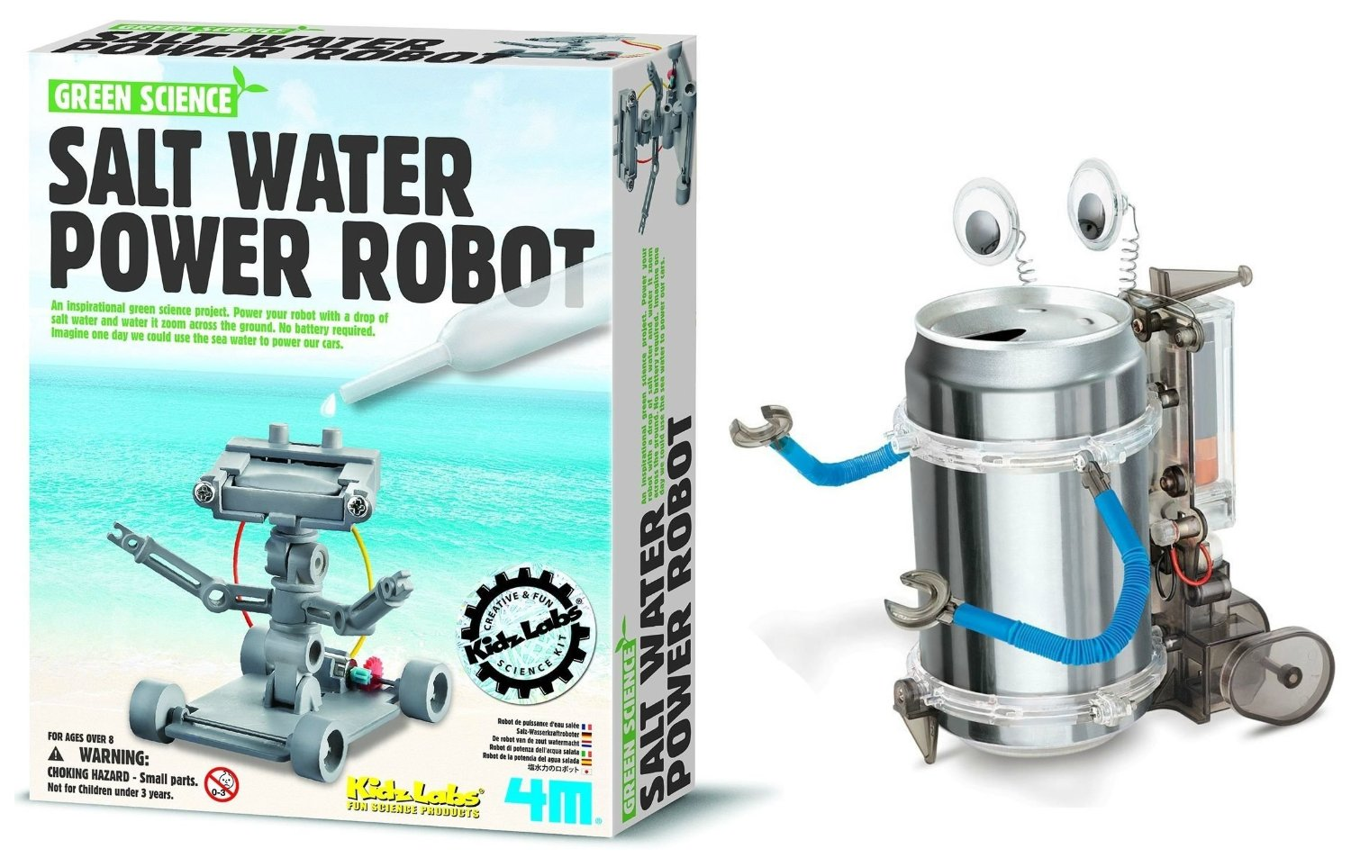 4M Salt Water Powered Robot Kit and Tin Can Robot by 4M