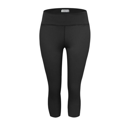 TAM WARE Women Stretchy Basic Yoga Capris Leggings Pants