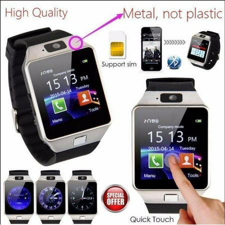 DZ09 Bluetooth 4.1 Smart Watch Phone + Camera SIM Card For Android IOS Phones