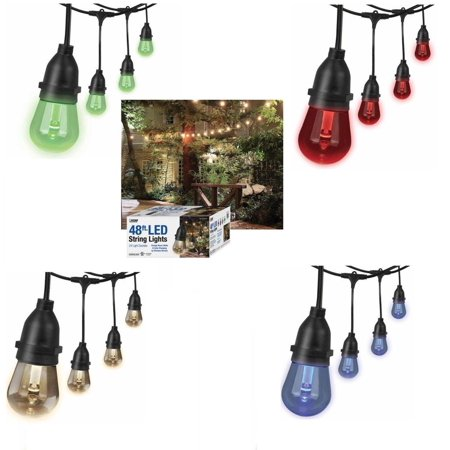 48ft Led String Light 4 Color Changing Dimmable Waterproof