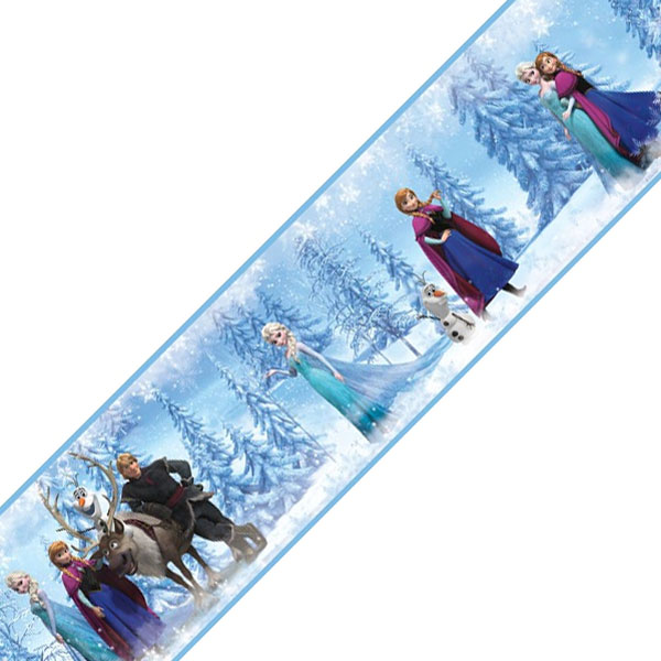 4pc Disney Frozen Self-Stick Wall Border Rolls